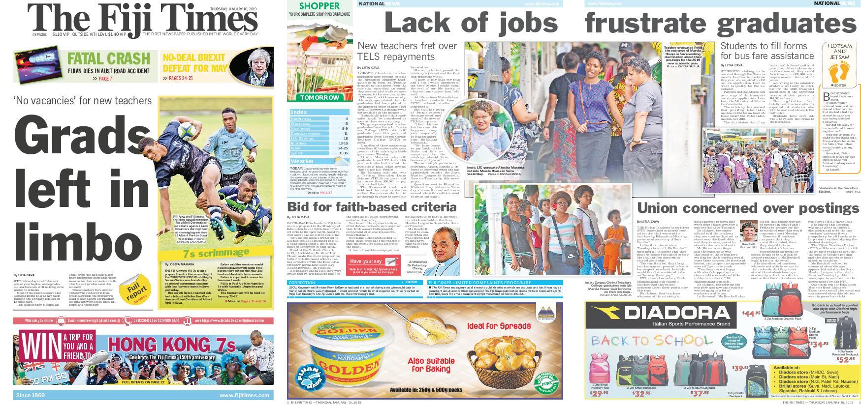 The Fiji Times – January 10, 2019 / AvaxHome