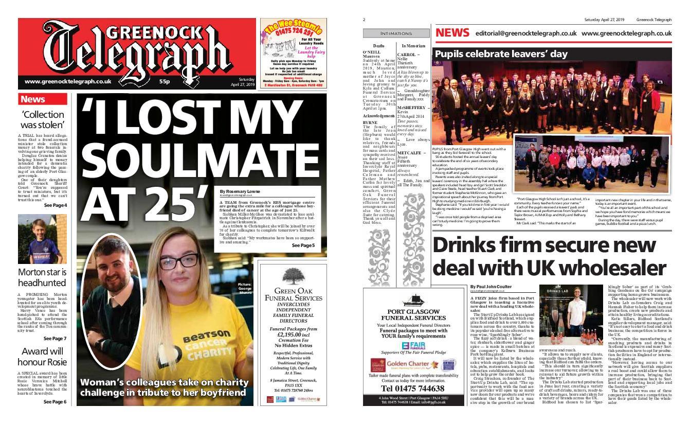 Greenock Telegraph – April 27, 2019 / AvaxHome