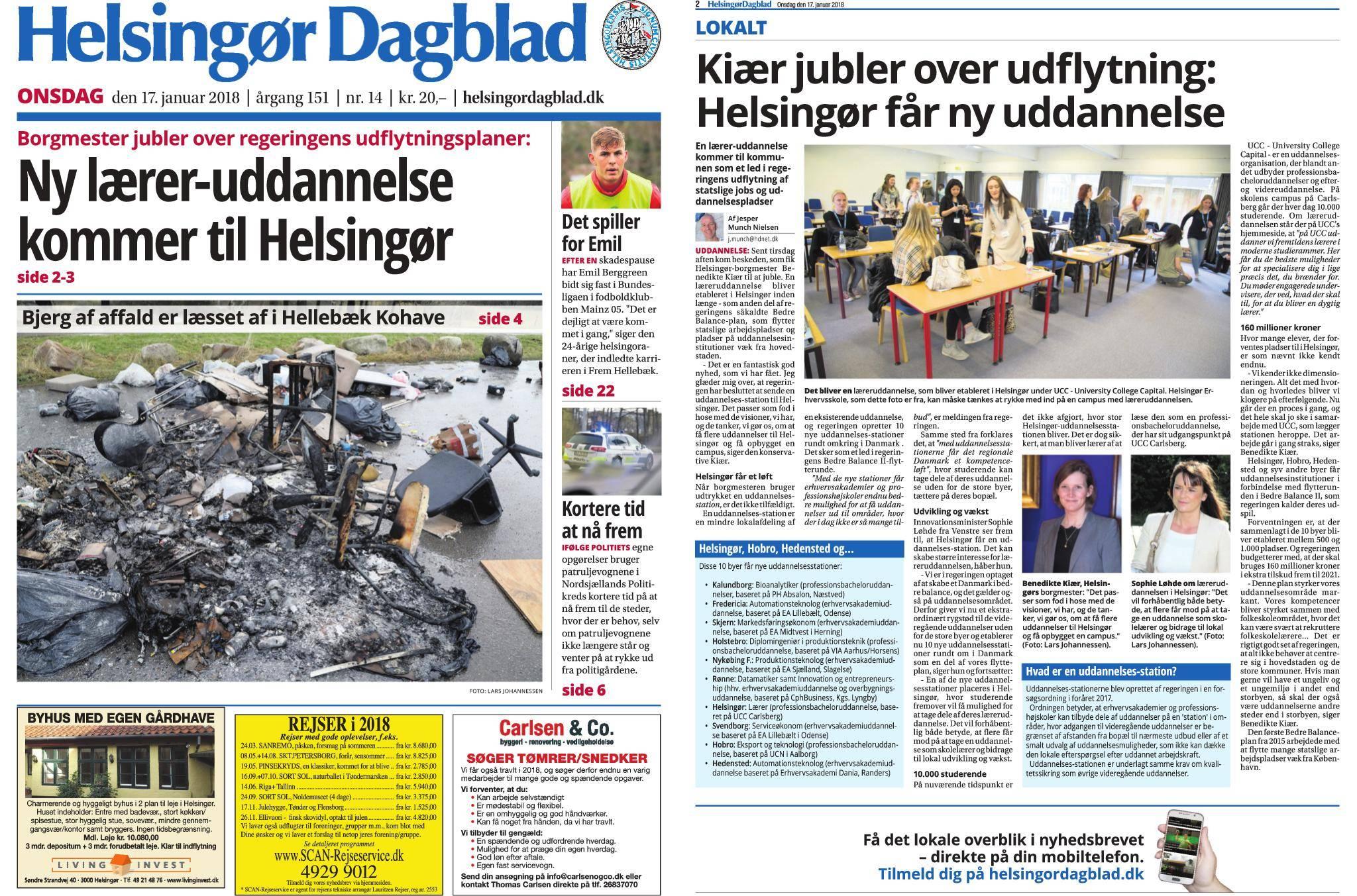 Helsingør Dagblad – 17  januar 2018 / AvaxHome