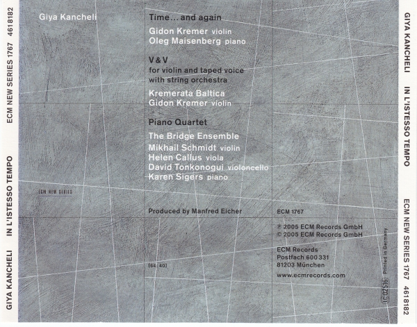 Giya Kancheli - In L'Istesso Tempo (2005) {ECM 1767}