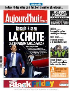 Aujourd'hui en France du Mardi 20 Novembre 2018