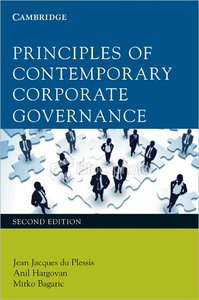 Principles of Contemporary Corporate Governance, 2nd Edition (repost)