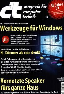 c't Magazin Nr.24 - 10 November 2018