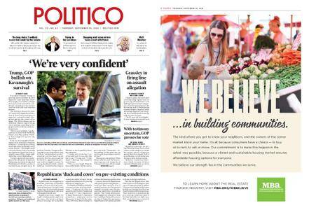 Politico – September 20, 2018