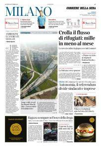Corriere della Sera Milano - 16 Ottobre 2017