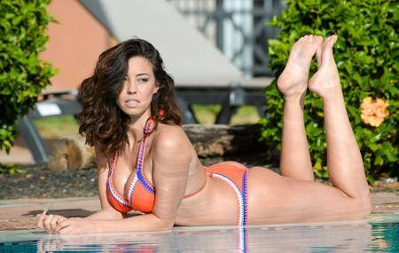 Pascal Craymer in a hotel pool in Tenerife on January 17, 2017