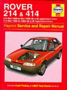 Rover 214 414. Haynes Service and Repair Manual.