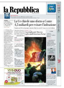 la Repubblica - 2 Dicembre 2018