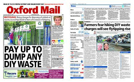 Oxford Mail – August 31, 2017