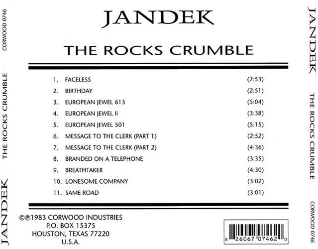 Jandek - The Rocks Crumble (1983) {2001 Corwood Industries}