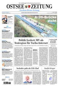 Ostsee Zeitung Wolgast - 13. November 2018