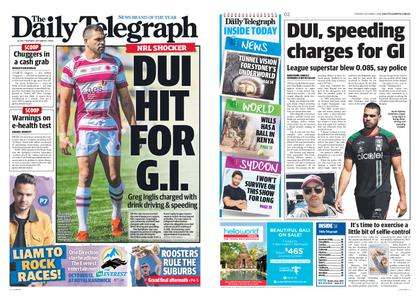 The Daily Telegraph (Sydney) – October 02, 2018