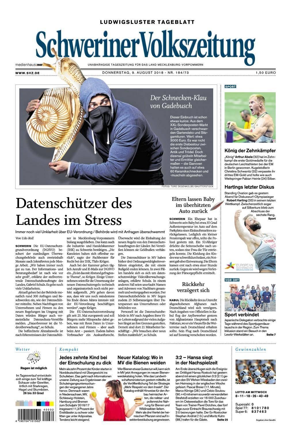 Schweriner Volkszeitung Schwerin