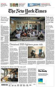 International New York Times - 26 January 2018