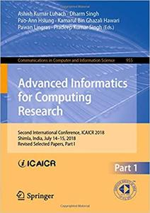 Advanced Informatics for Computing Research: Second International Conference, ICAICR 2018, Part I