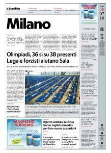 la Repubblica Milano - 20 Luglio 2018