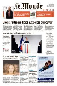 Le Monde du Samedi 6 Octobre 2018