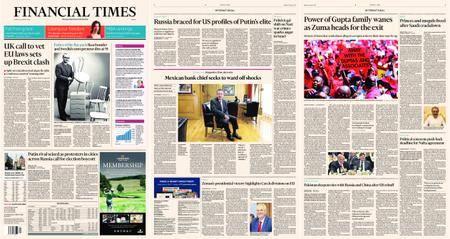 Financial Times Europe – 29 January 2018