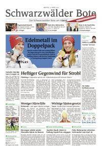 Schwarzwälder Bote St. Georgen, Triberg, Furtwangen - 12. März 2018