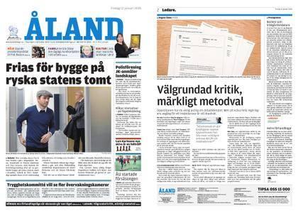 Ålandstidningen – 12 januari 2018