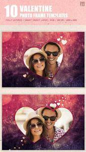 GraphicRiver - Valentine Photo Frame Template