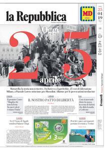 la Repubblica – 25 aprile 2019