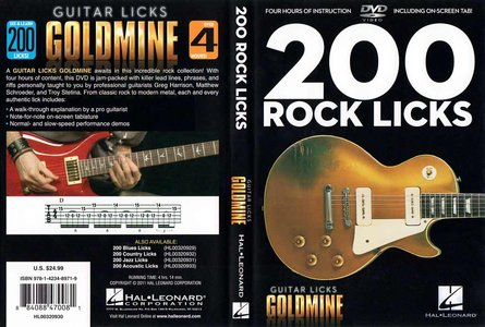 Guitar Licks Goldmine - 200 Rock Licks [repost]