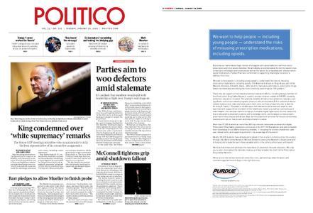 Politico – January 15, 2019