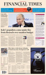 Financial Times Europe – 19 October 2018