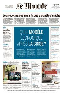 Le Monde du Dimanche 17 et Lundi 18 Mai 2020