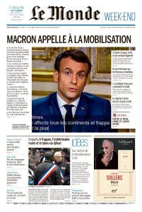 Le Monde du Samedi 14 Mars 2020