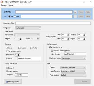 Softany CHM to PDF Converter 3.08