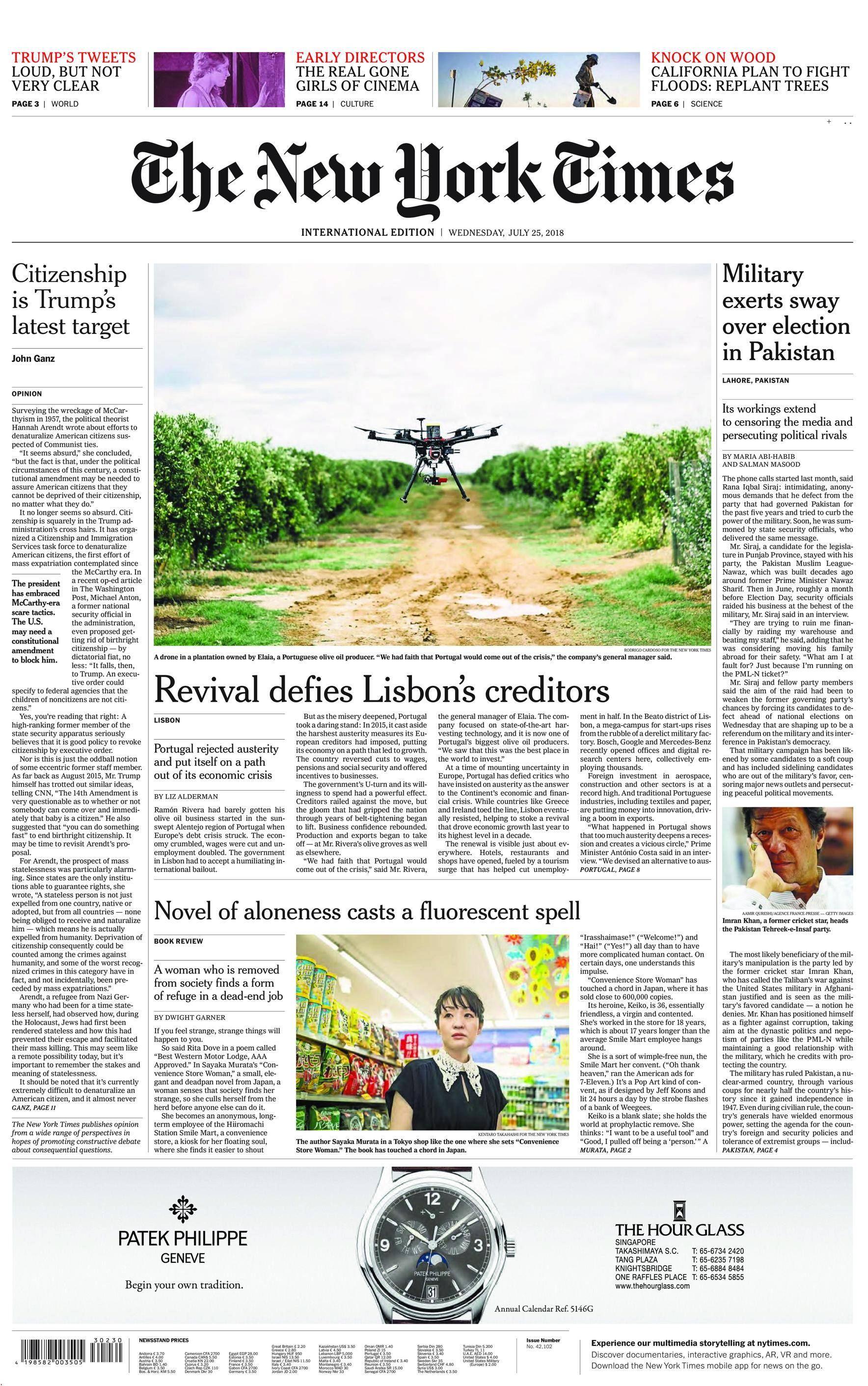 International New York Times - 25 July 2018