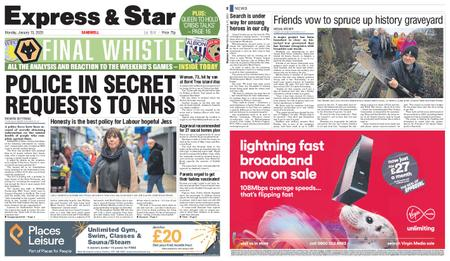 Express and Star Sandwell Edition – January 13, 2020