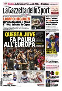 La Gazzetta dello Sport Roma – 21 settembre 2018