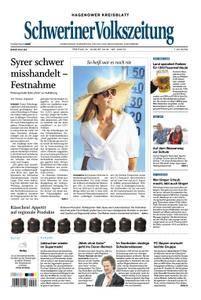 Schweriner Volkszeitung Hagenower Kreisblatt - 31. August 2018