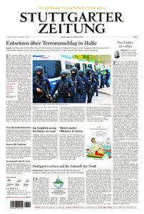 Stuttgarter Zeitung Blick vom Fernsehturm - 10. Oktober 2019