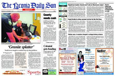 The Laconia Daily Sun – September 27, 2017