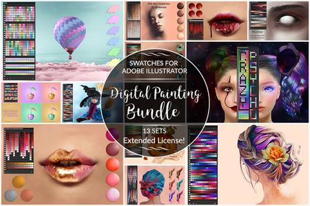 Digital Painting Swatches for Ai - 3573039