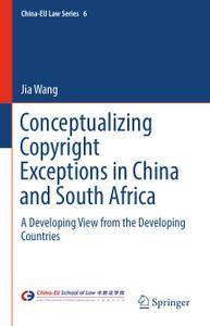 Conceptualizing Copyright Exceptions in China and South Africa: A Developing View from the Developing Countries