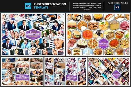 CreativeMarket - Photo Collage Template 09