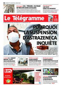 Le Télégramme Brest Abers Iroise – 16 mars 2021