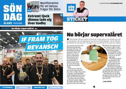 Ålandstidningen – 30 december 2018