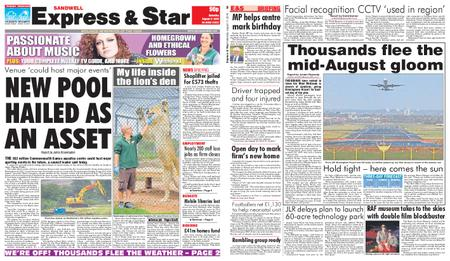 Express and Star Sandwell Edition – August 17, 2019