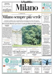 la Repubblica Milano - 9 Agosto 2020