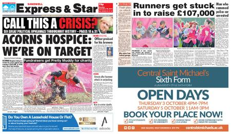 Express and Star Sandwell Edition – September 30, 2019