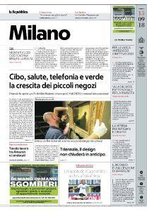 la Repubblica Milano - 15 Settembre 2018
