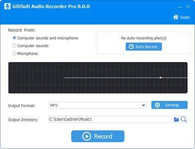 GiliSoft Audio Recorder Pro 10.0.0