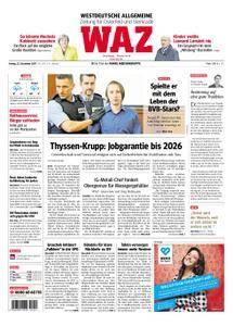 WAZ Westdeutsche Allgemeine Zeitung Oberhausen-Sterkrade - 22. Dezember 2017