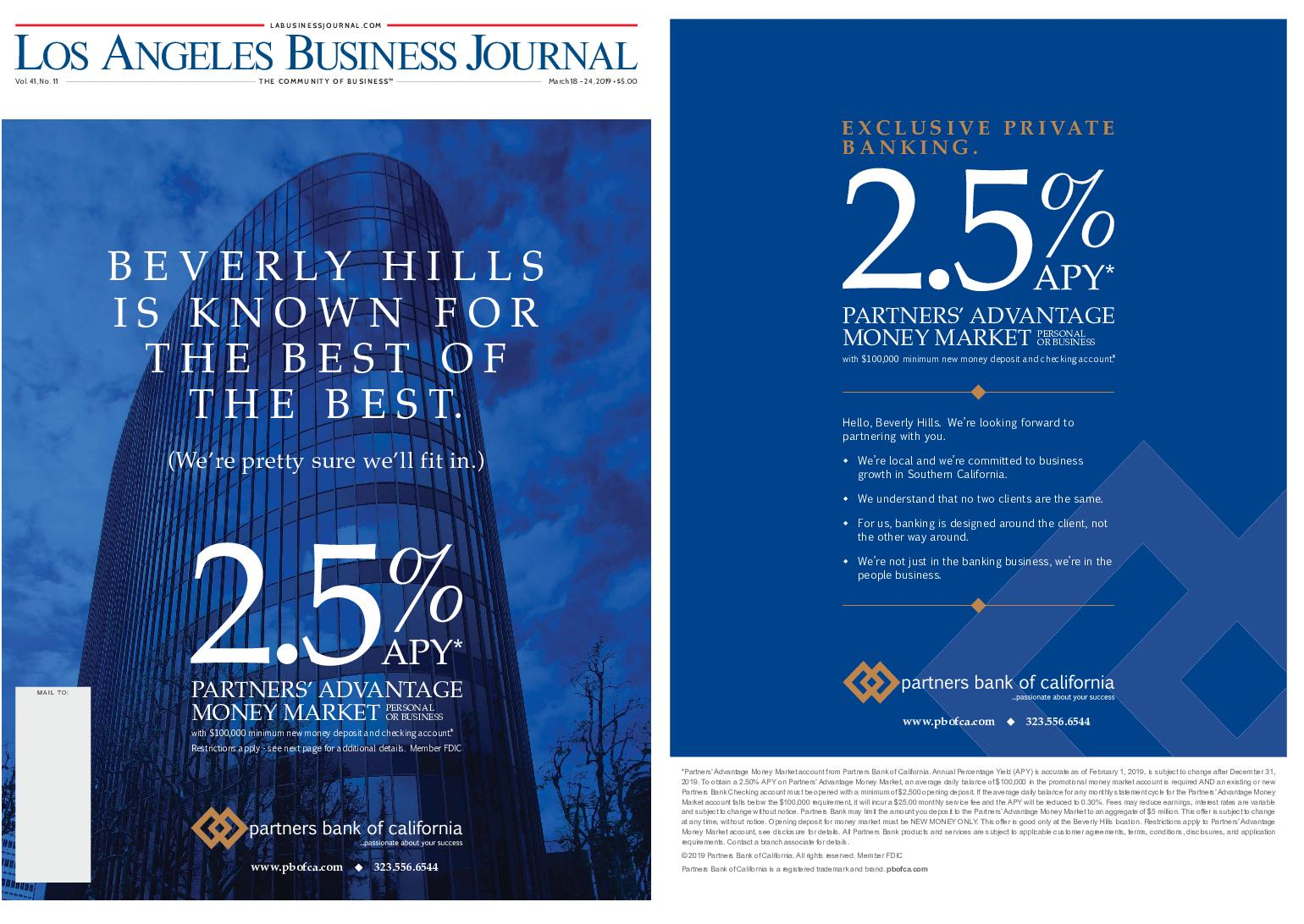 Los Angeles Business Journal – March 18, 2019